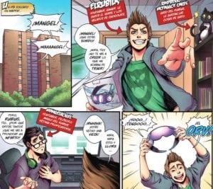 """Página del cómic del youtuber El Rubius """"Virtual Hero"""""""